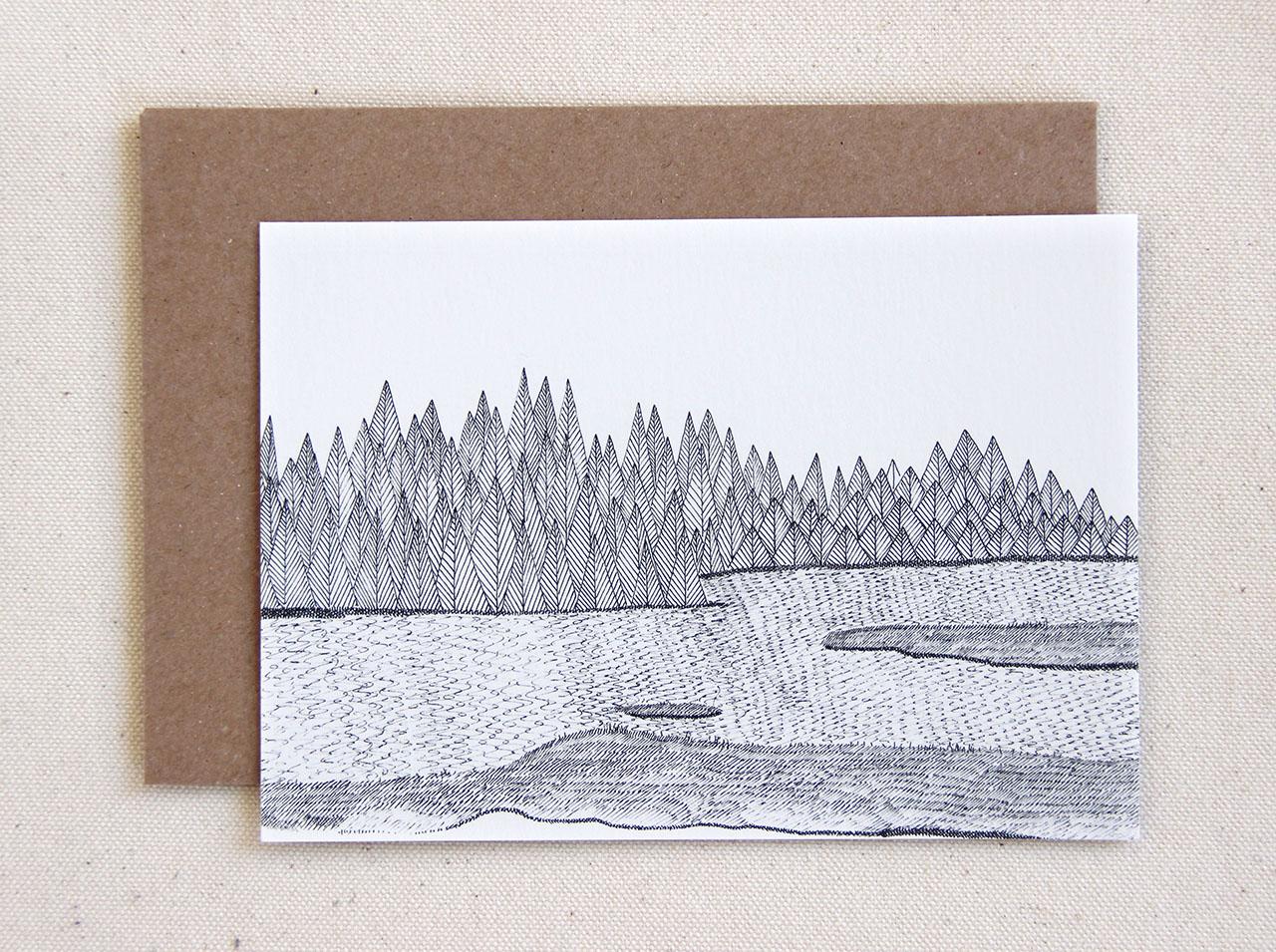 mathûvû carte forêt cinq grammes papeterie carterie lyon