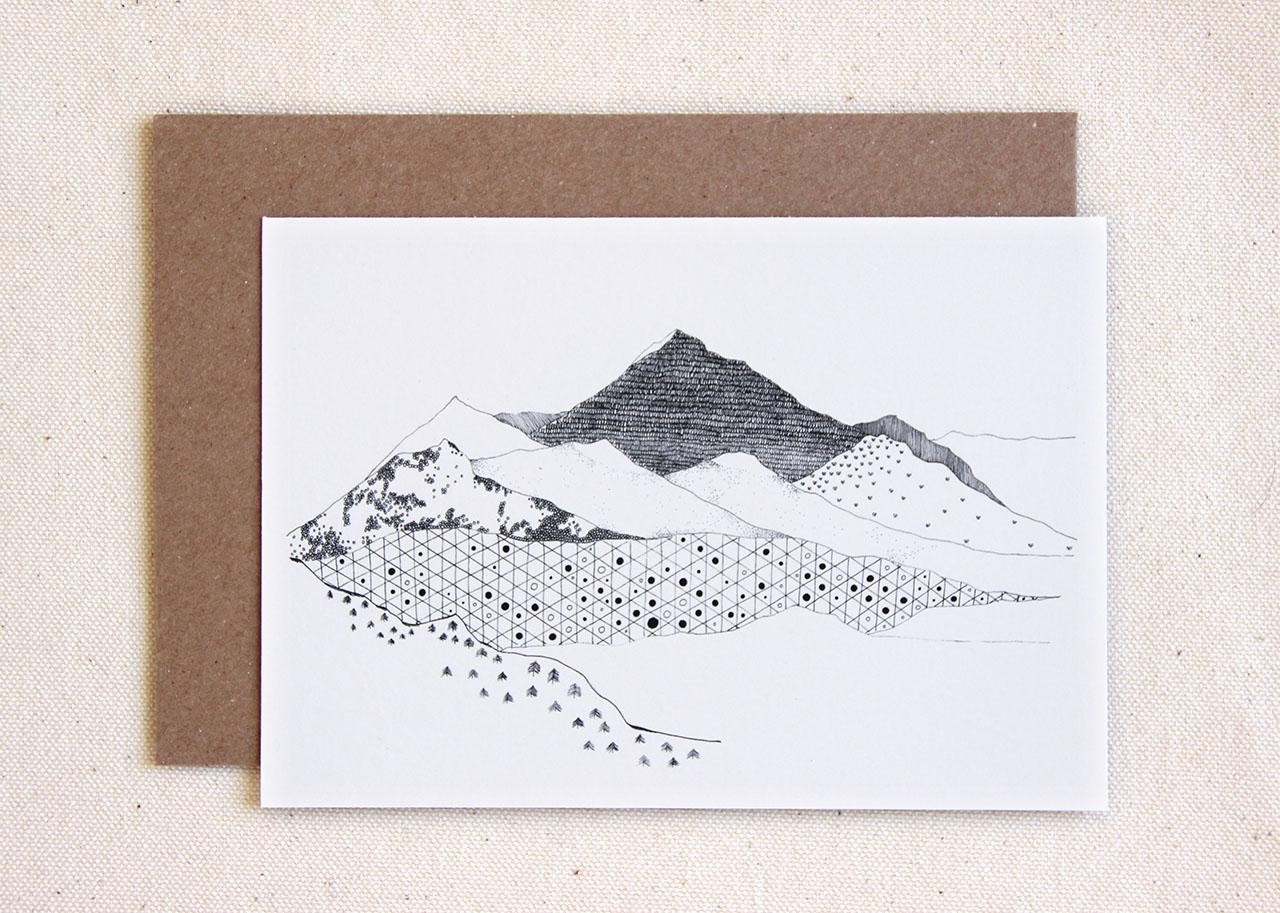 mathûvû carte montagnes cinq grammes papeterie carterie lyon