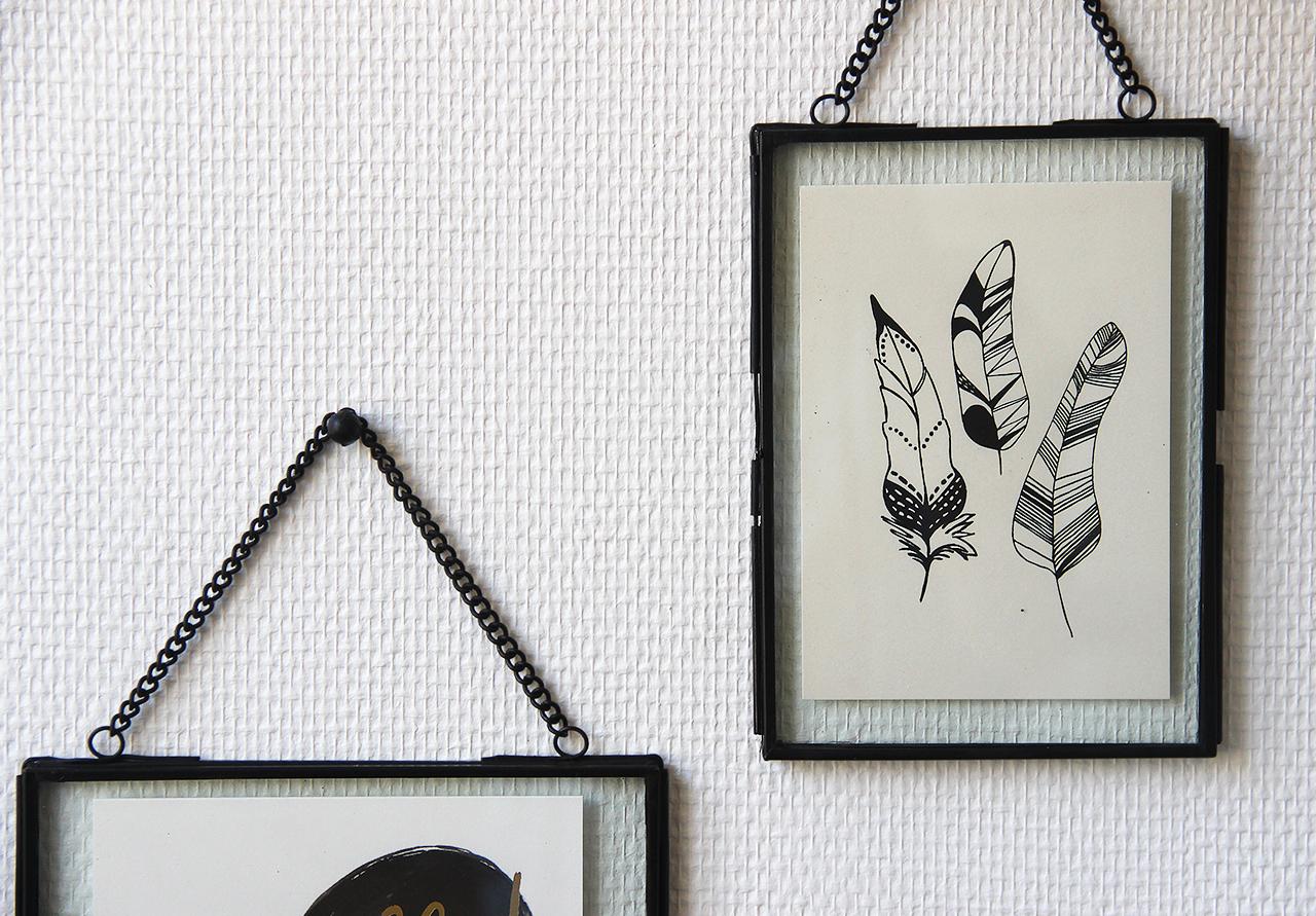 cadre en verre noir h bsch cadre en verre d coration. Black Bedroom Furniture Sets. Home Design Ideas