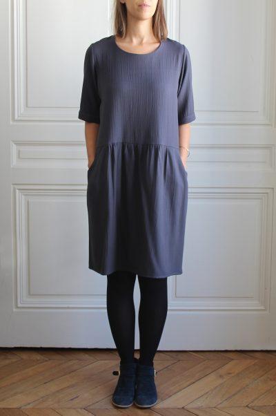 mathûvû créations vêtements robe Lucette ardoise lyon