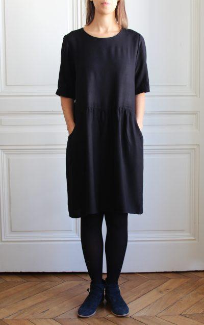 mathûvû créations vêtements robe Lucette noire lyon