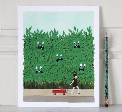 mathûvû affichette monstres Rifle Paper Co papeterie décoration illustration lyon