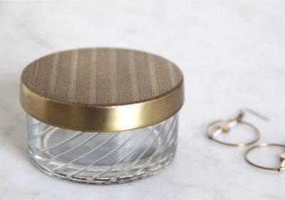 mathûvû boîte ronde nkuku verre dorée décoration home lyon