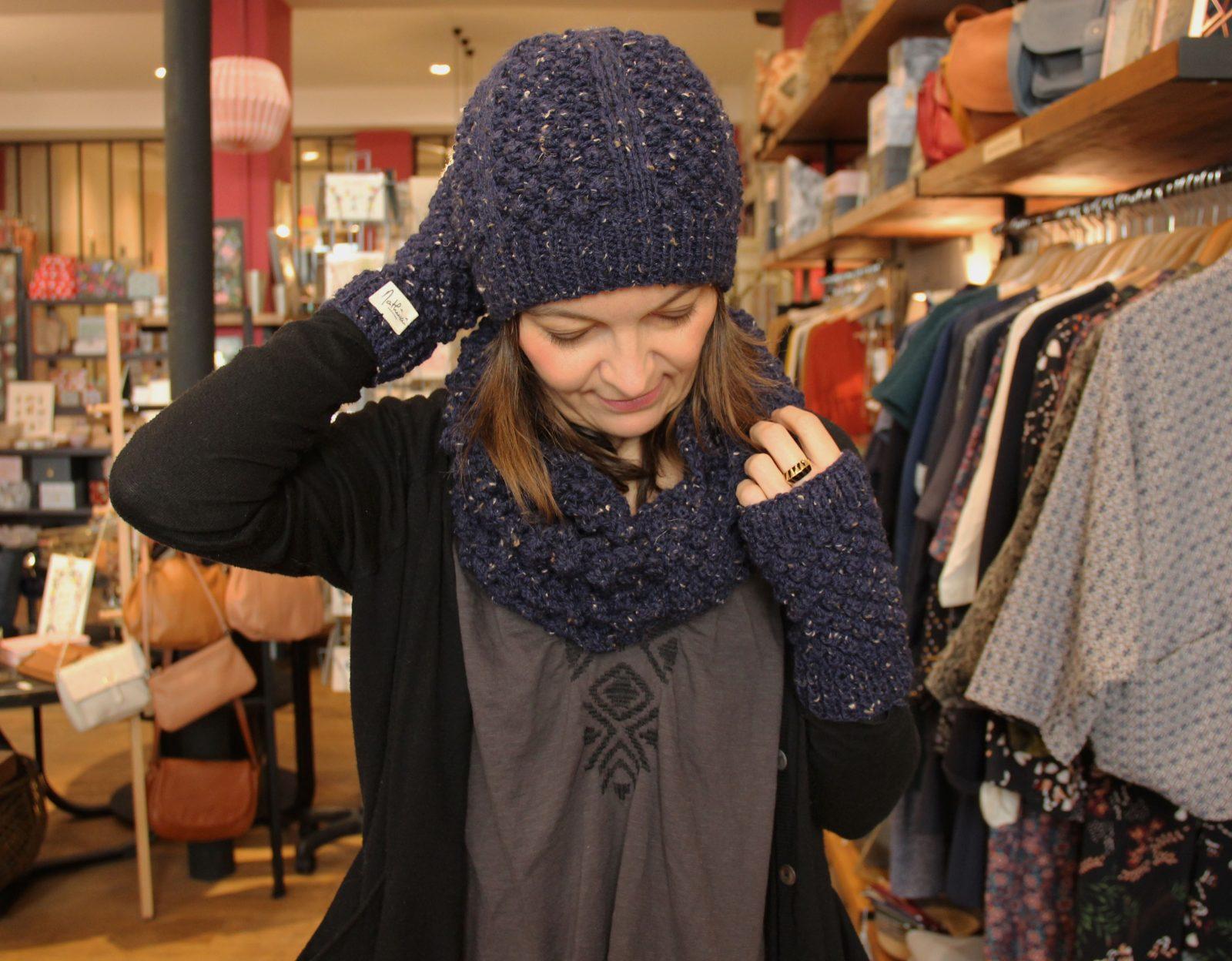mathûvû création mathûvû laine fait main mitaines bonnet snood lyon