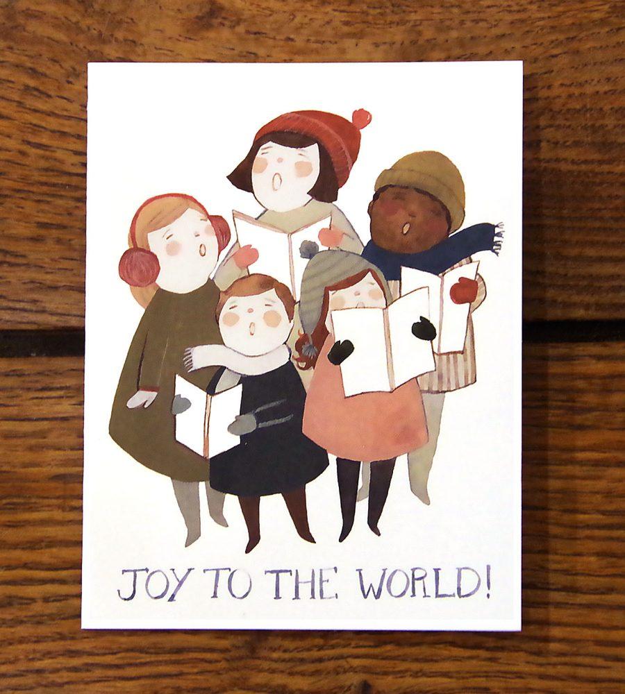 Carte Joy to the world Red Cap Cards - Mathûvû
