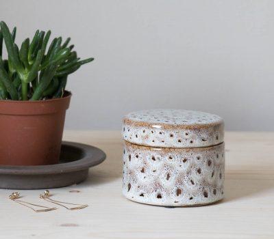 Boîte céramique tachetée mathuvu
