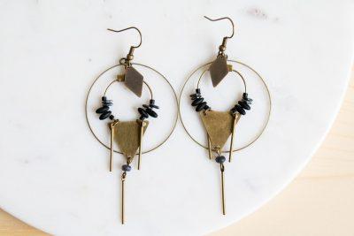 Boucles d'oreilles ethnique Jisalée - Mathûvû