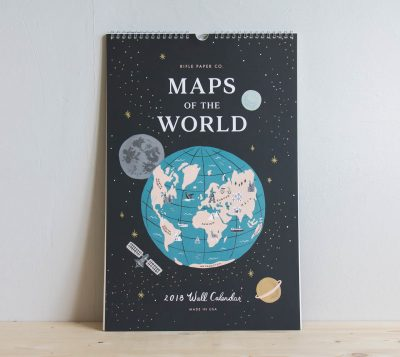 Calendrier Map 2018 Rifle paper co Mathûvû