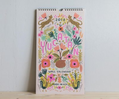 Calendrier rose Rifle paper co Mathûvû