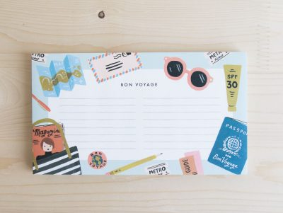 Bloc note - Bon voyage Rifle paper co Mathûvû