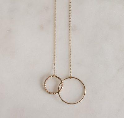 Collier double anneau Poulette - Maison Mathûvû