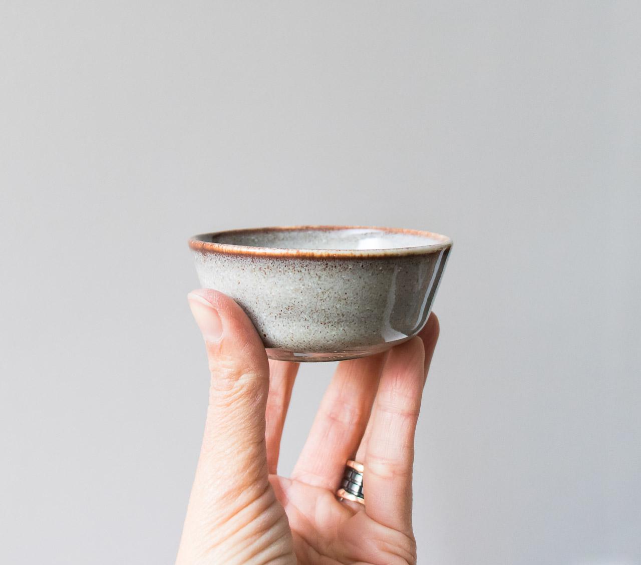mini coupelle grise bloomingville - Maison Mathuvu