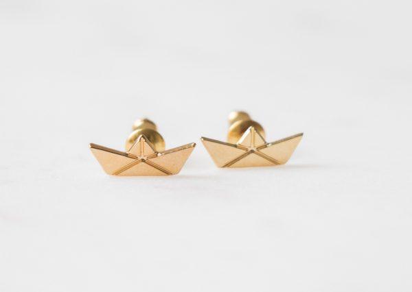 Boucles d'oreilles bateaux origami Shlomit Ofir Maison Mathûvû