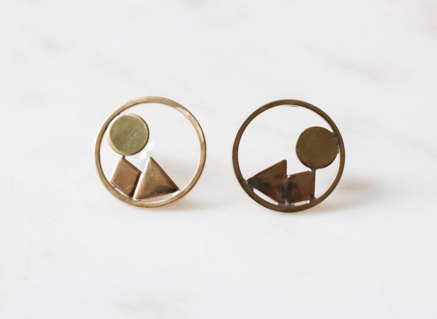 Boucles d'oreilles - Céli petit modèle collection Maison Mathûvû