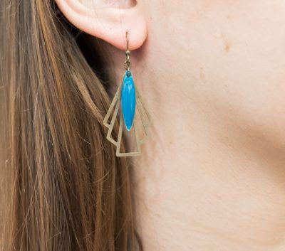Boucles d'oreilles Eventail Jisalée - Maison Mathûvû