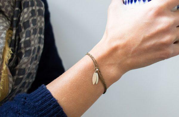 Bracelet chaîne et sequin Jisalée- Maison Mathûvû