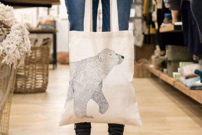 Tote bag ours cinq grammes - Maison Mathuvu