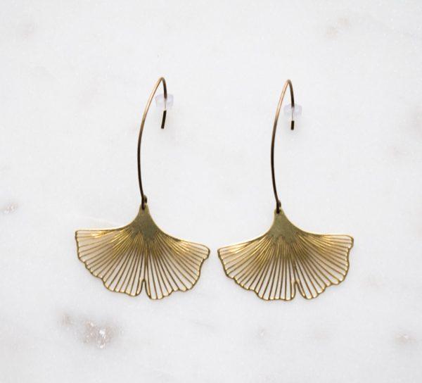 Boucles d'oreilles Lotus Jisalée - Maison Mathûvû