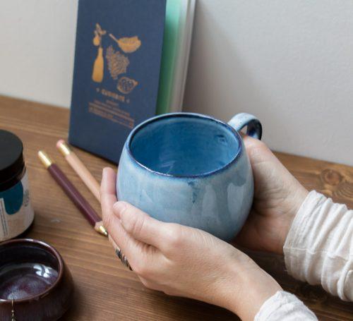 sélection curiosité tasse bleu bloomingville Maison Mathûvû