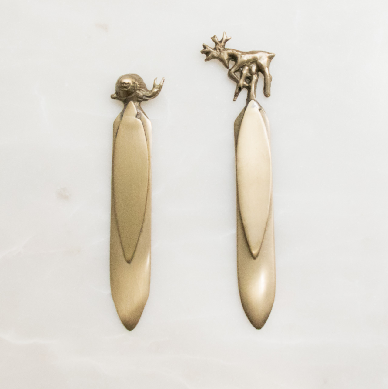Marque page cerf et escargot Nkuku - Maison Mathuvu