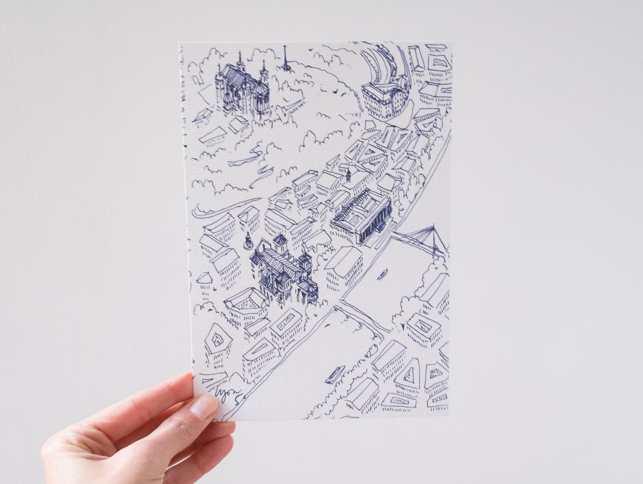 Cartes Postales des 9 arrondissements de Lyon Emilie Ettori Maison Mathûvû