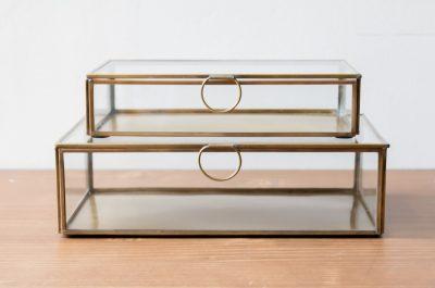 Boîtes laiton et verre rectangulaires Broste - Maison Mathûvû