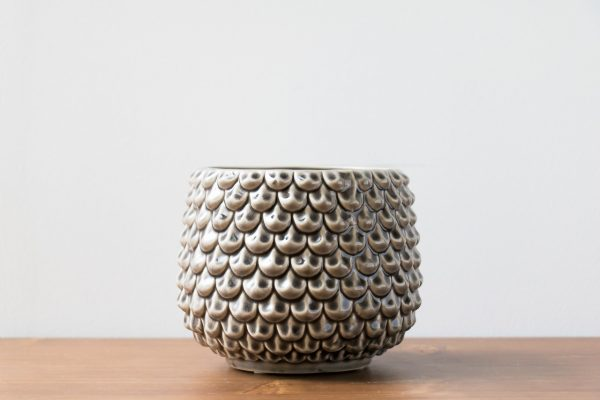 Cache-pot gris bloomingville - Maison Mathuvu