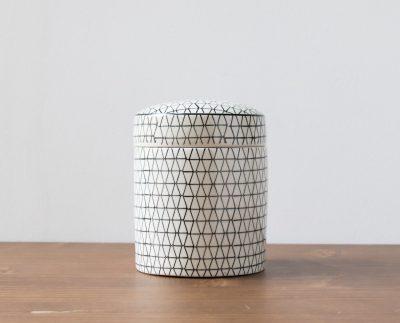 Pot en céramique noir graphique grand modèle Tranquillo - Maison Mathûvû
