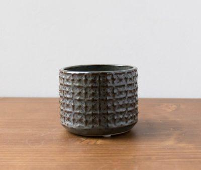 Cache-pot brun et gris bloomingville - Maison Mathuvu
