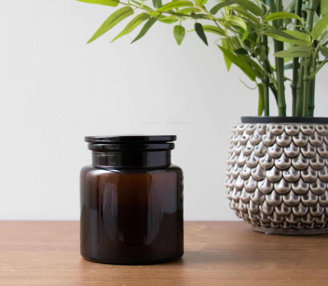 Pot en verre brun bloomingville - Maison Mathuvu