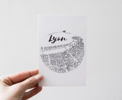 Carte de Lyon Emilie Ettori Maison Mathûvû