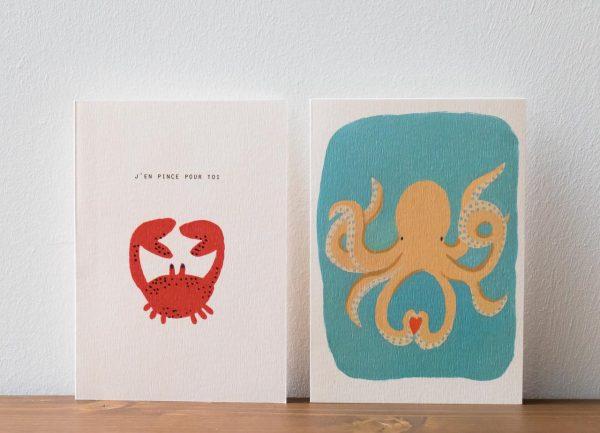 Carte Sea Lover Season Paper -Maison Mathûvû