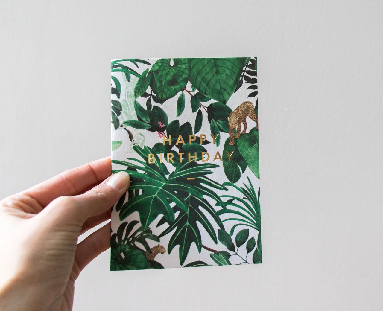 Carte d'anniversaire jungle - Maison Mathuvu