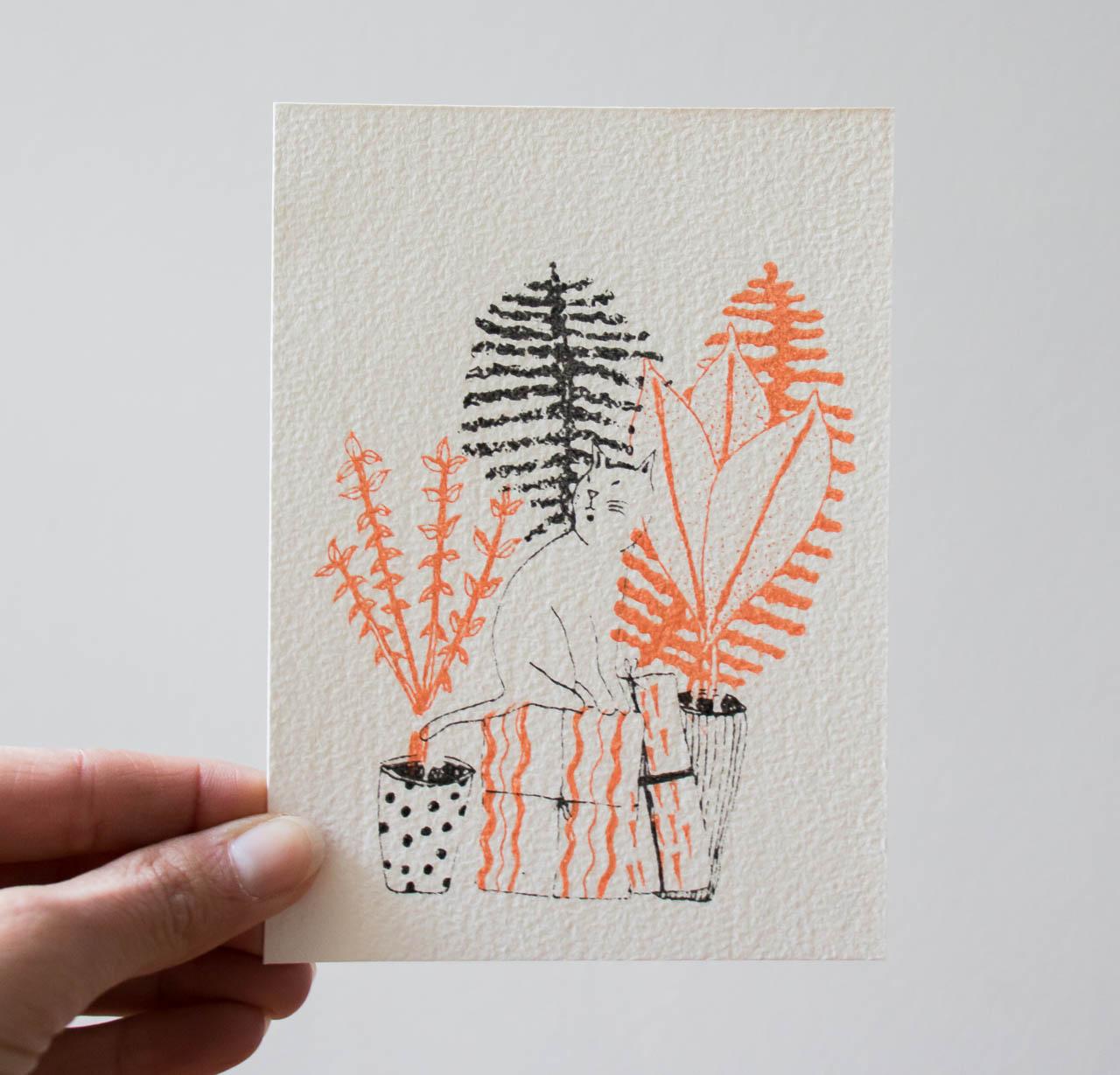 Carte chat et cadeaux Sprz - Maison Mathuvu