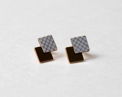 Boucles d'oreilles prisma Shlomit Ofir - Maison Mathuvu
