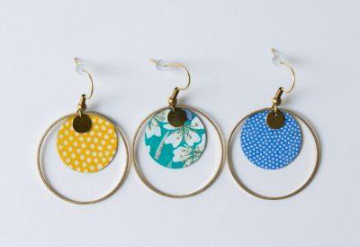 Boucles d'oreilles rond japonais Lilifabrique - Maison Mathuvu