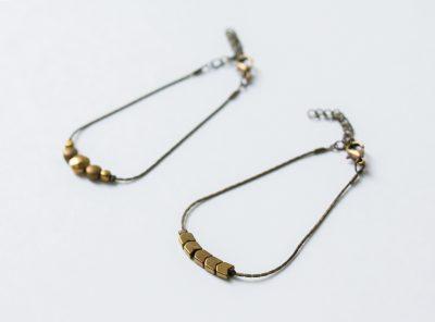 Bracelet géométrique doré Jisalée - Maison Mathuvu