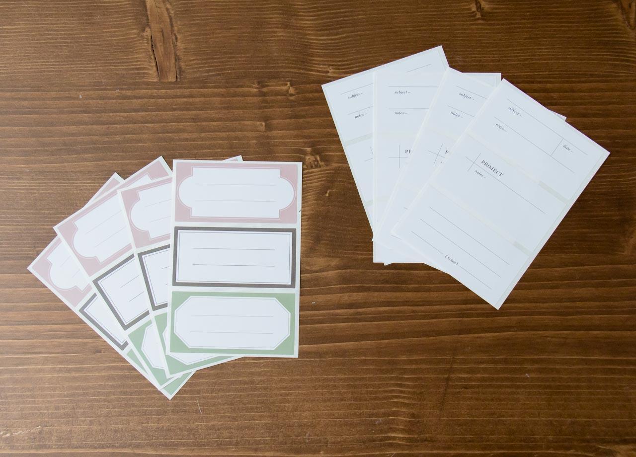 Set d'étiquettes décoratives Monograph Maison Mathûvû