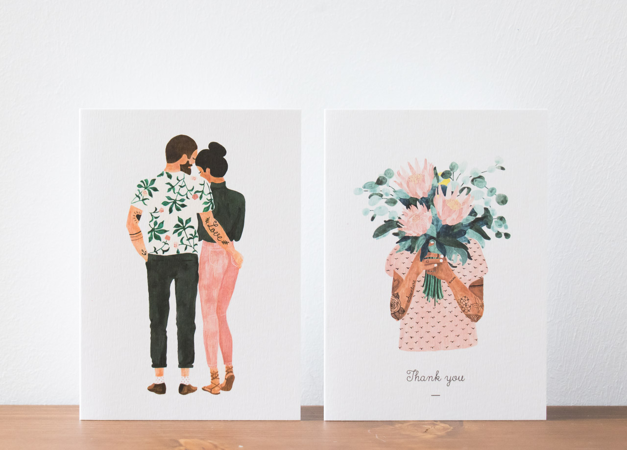 Carte tattoo girl et couple All the ways to say - Maison Mathûvû