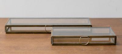 Boîte plate en verre monograph - Maison Mathuvu