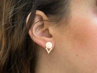 boucles d'oreilles disc Stanka mila - Maison Mathuvu