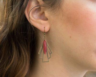 Boucles d'oreilles Éventail Jisalée Maison Mathûvû