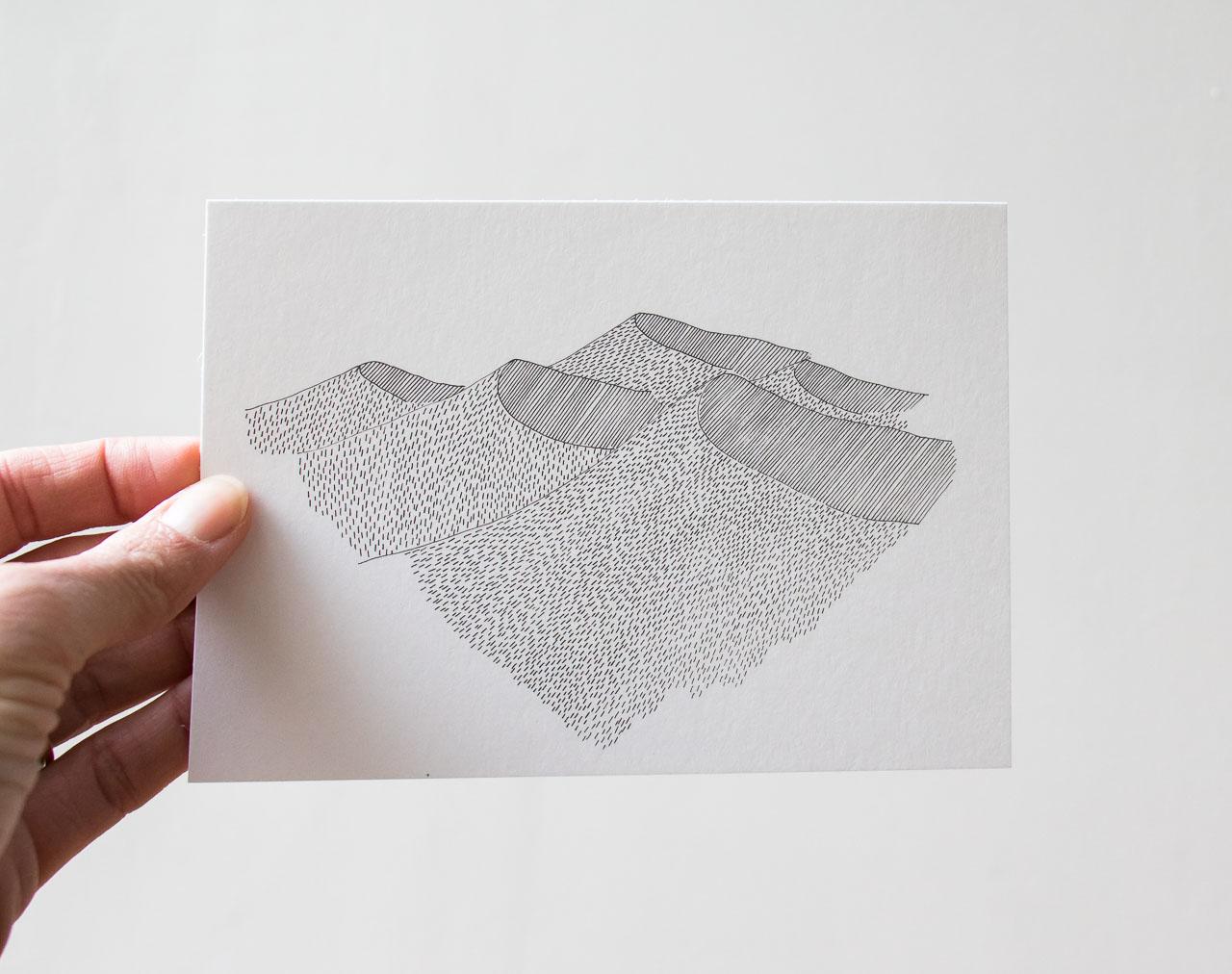 Carte Dune - Cinq Gramme -Maison Mathûvû