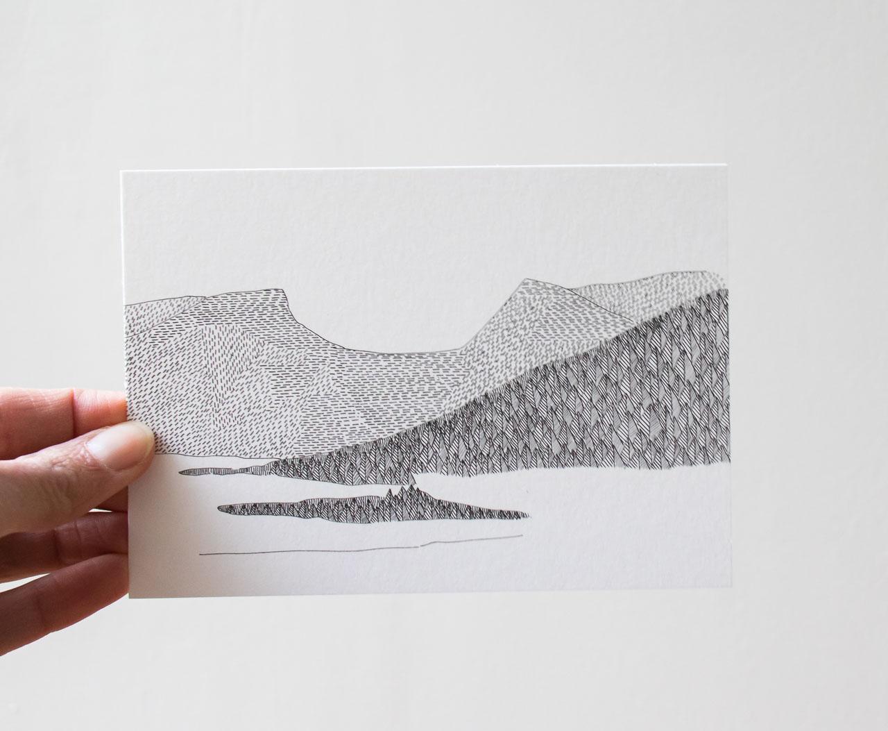 Carte Sapins - Cinq Gramme -Maison Mathûvû