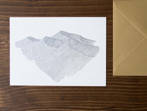 Carte Dune- Cinq Gramme -Maison Mathûvû