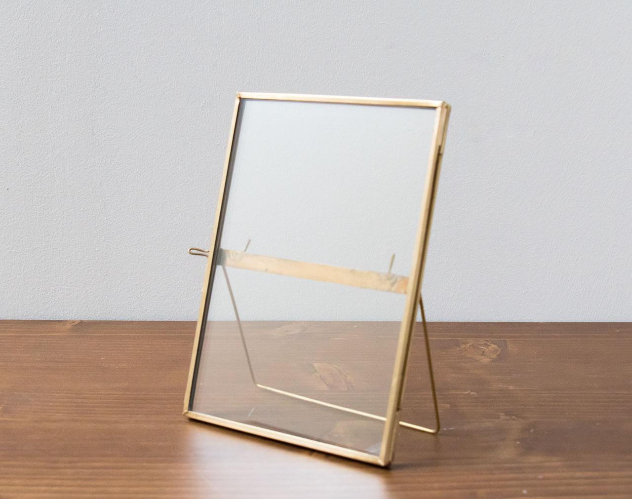 Cadre en verre dor poser hubsch math v lyon - Cadre photo en verre a poser ...