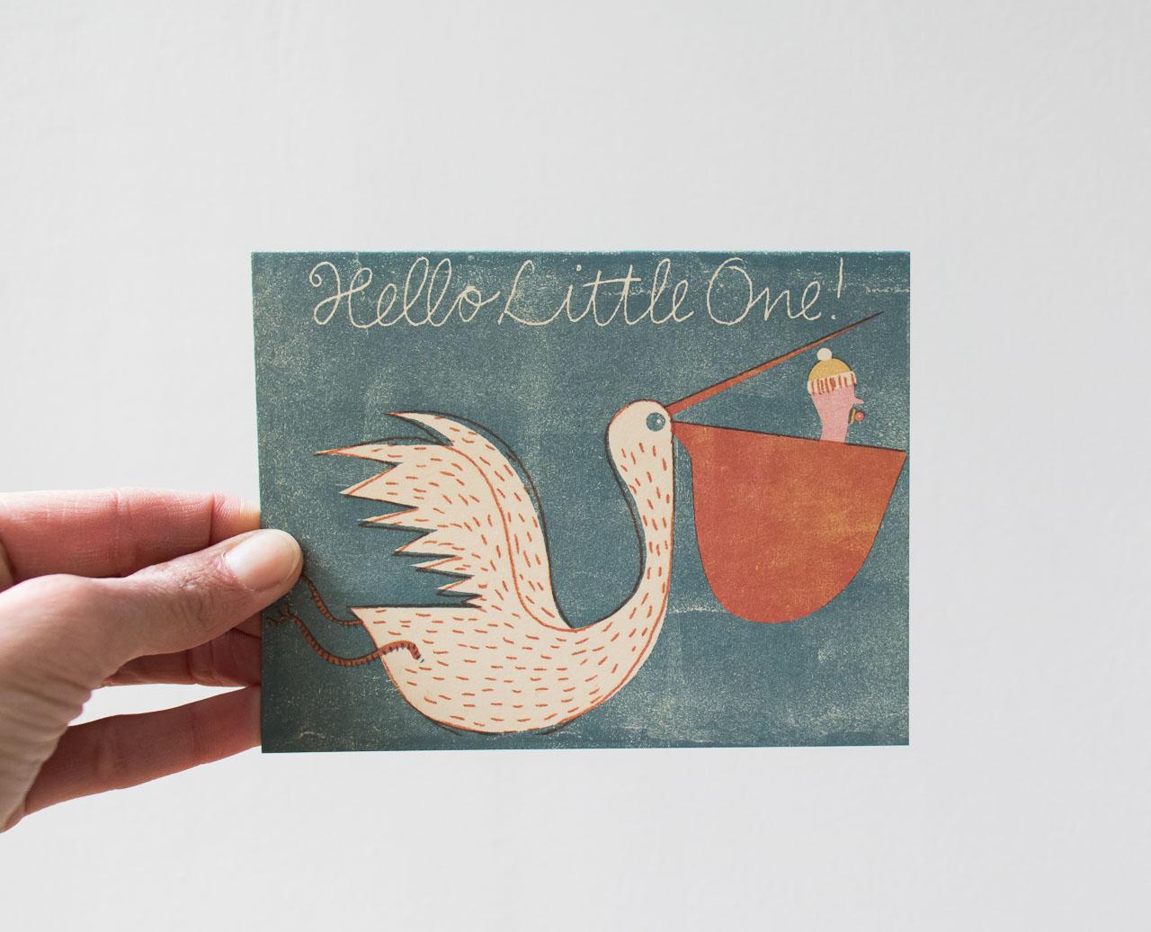 Carte little one red cap cards - Maison Mathuvu