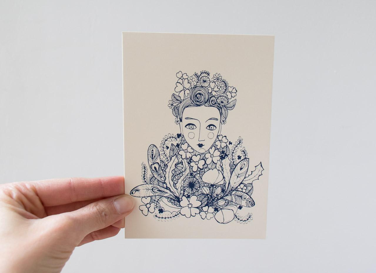 Carte - Frida Kahlo Rugiada Petrelli Maison Mathûvû