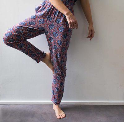 Pantalon rouge et bleu Compania fantastica - Maison Mathuvu