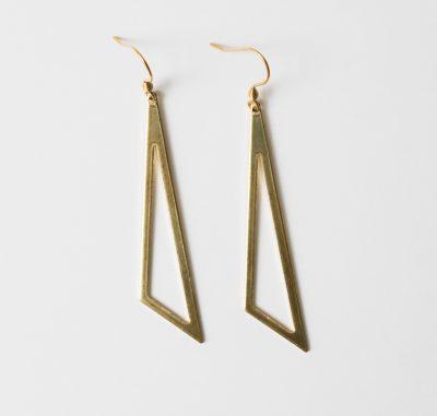 Boucles d'oreilles triangle jisalée - Maison Mathuvu